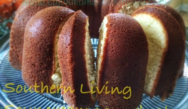 Southern Living Pound cake and the perfectionist super woman who lives in my head