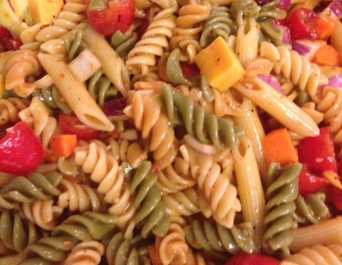 Rainbow Pasta Salad  and lots of the good stuff know, I learned from my friends
