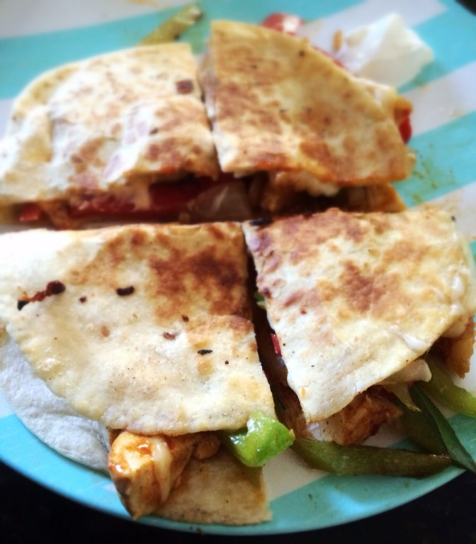 Shrimp Quesadillas, chopping down trees, and a google search