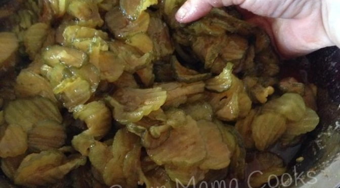 Cajun Mama's Candied Pickles