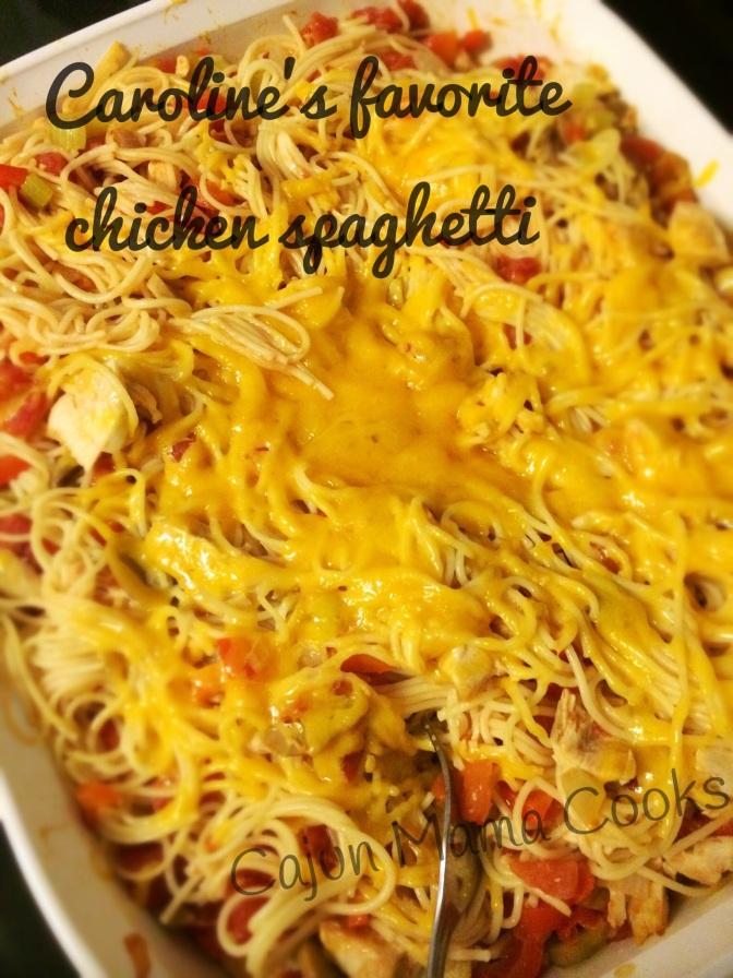 Caroline's favorite chicken spaghetti