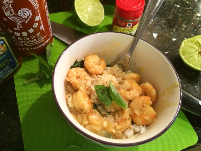 Shrimp coconut curry and things I love