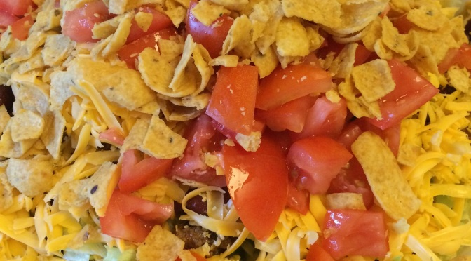Mrs. Mona's taco salad and really good slumber parties