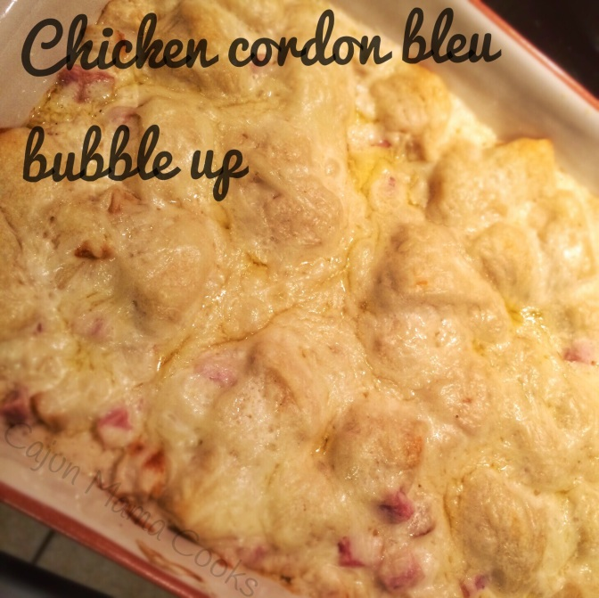 Chicken cordon bleu bubble up