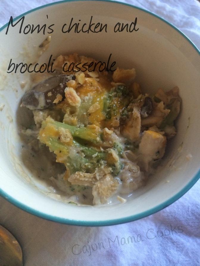 Mom's creamy chicken broccoli and rice casserole