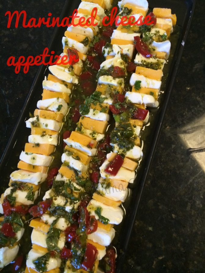 Marinated cheese appetizer   and feeling a bit overwhelmed