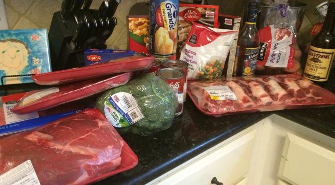 Crazy Crockpot Week in Cajun mama's kitchen…the grocery list!!!