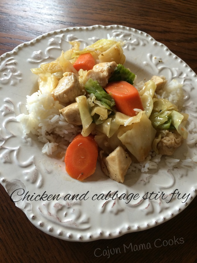 Chicken and cabbage stir fry and the family that gets sick together…drives each other crazy