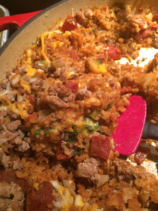 Cheesy Spanish rice casserole  and the best refried beans…and for the love of Mexican