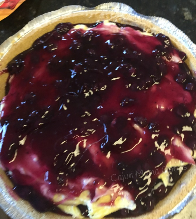 Big Daddy's request:  Lemon blueberry layered pie and I aim to please