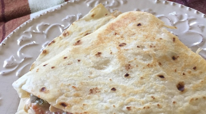 Slow cooker chicken quesadillas and the gift of another Monday morning