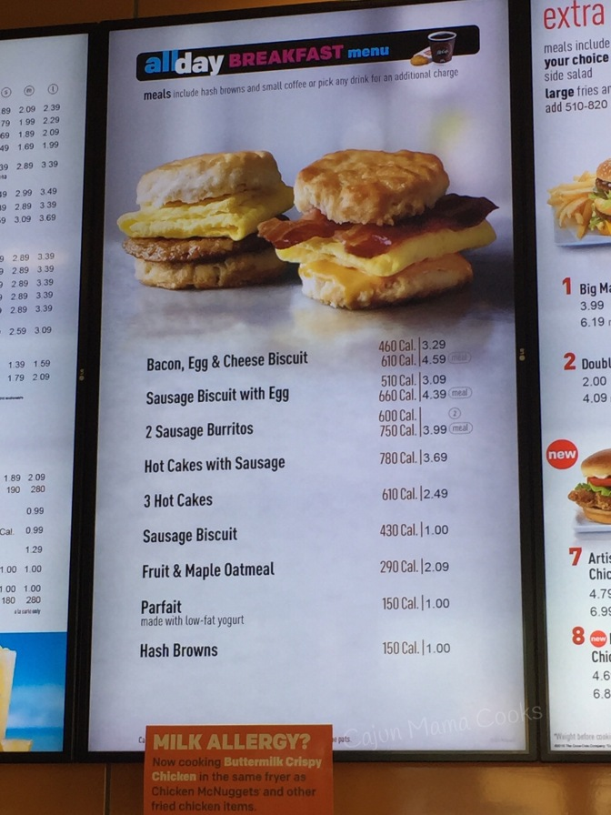 Recipe for happiness..all day breakfast at McDonald's!!