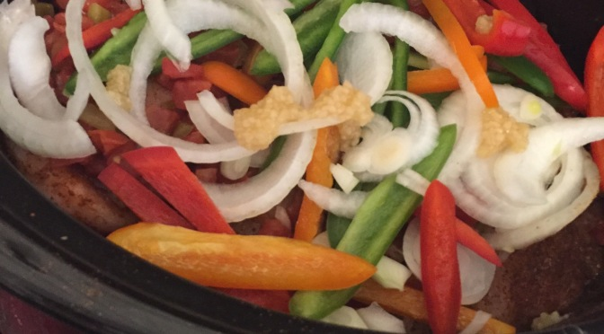 Crock pot fajitas and back to the future